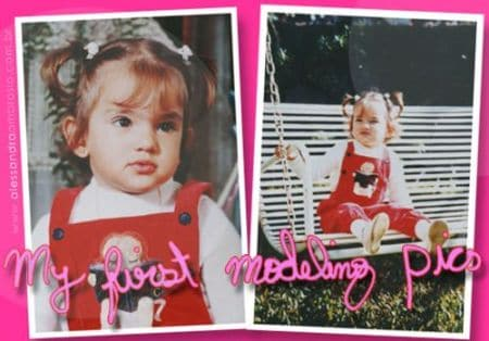Alessandra Ambrosio childhood pictures, young, kid, early