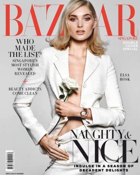 Elsa Hosk harpers bazaar, magazines, cover