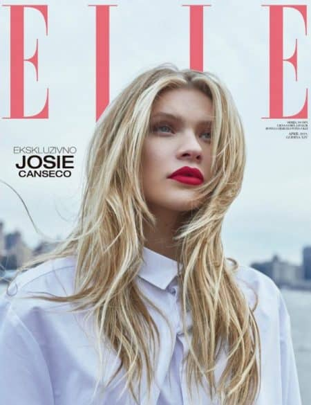 Josie Canseco on the cover of ELLE-Serbia