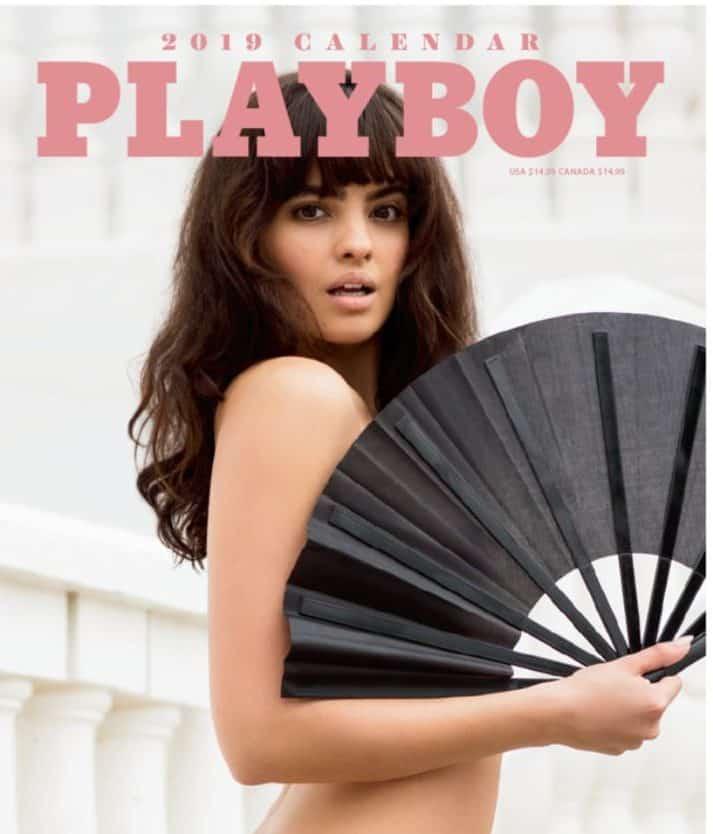 Nina at cover of Playboy magazine
