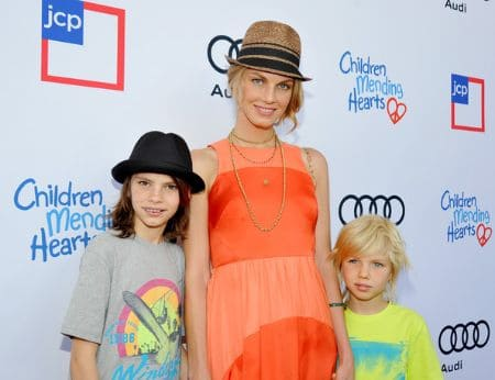 Angela Lindvall sons, kids, children, baby