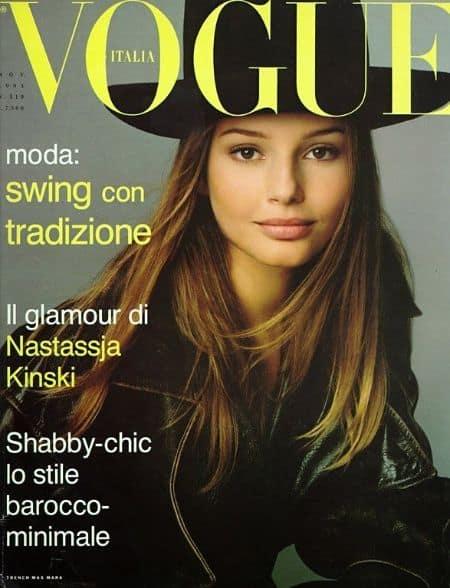 Bridget Hall Vogue, Allure, Elle, Magazines