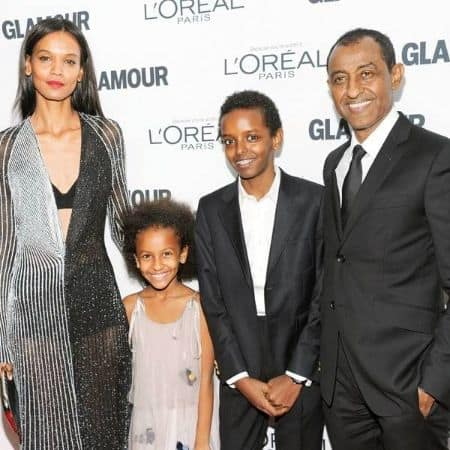 Liya Kebede family, son, daughter