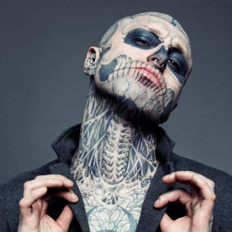 Rick Genest Tattoo