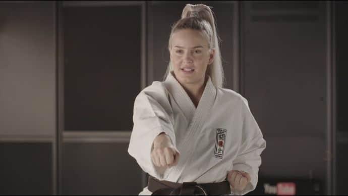 Anne Marie Karate Player