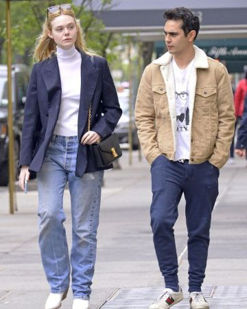 Elle Fanning with Max Minghella