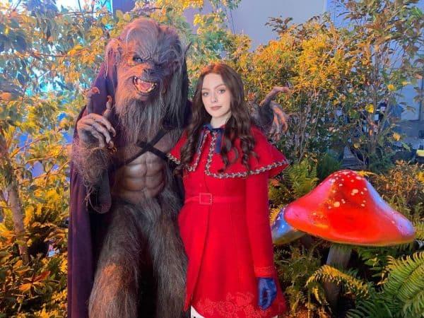 Beautiful Danielle Rose in Red Dress
