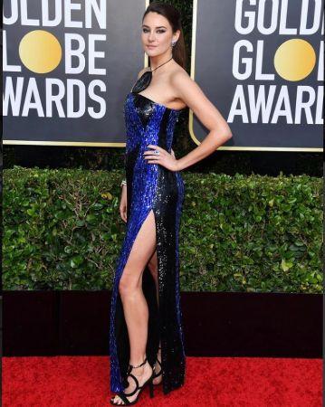 Shailene Woodley in Blue Dress