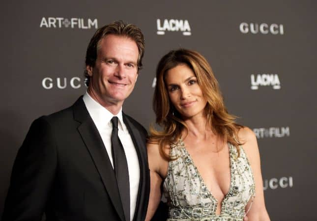 Cindy Crawford with her husband