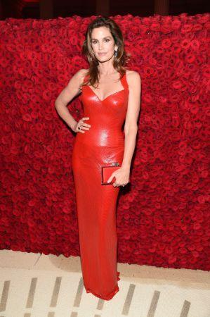 Cindy Crawford in beautiful red dress
