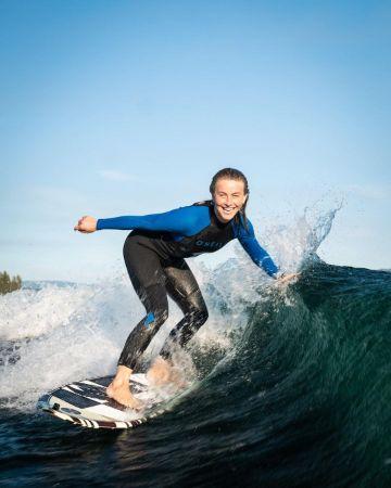 Julianne Hough loves surfing