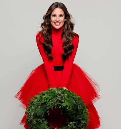 Talented American Actress Lea Michele in Red